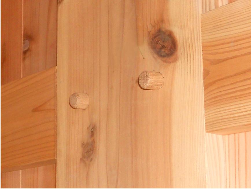 木組みの良さを最大限に活かしています。