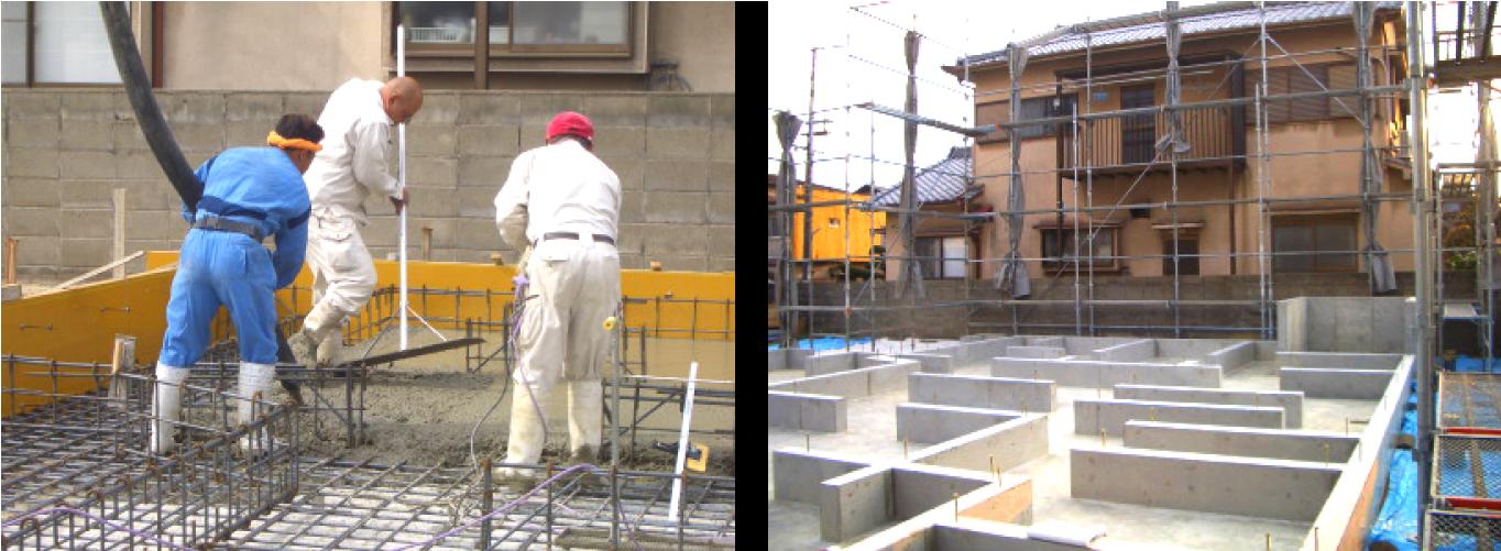 基礎配筋 ・ 基礎コンクリート工事