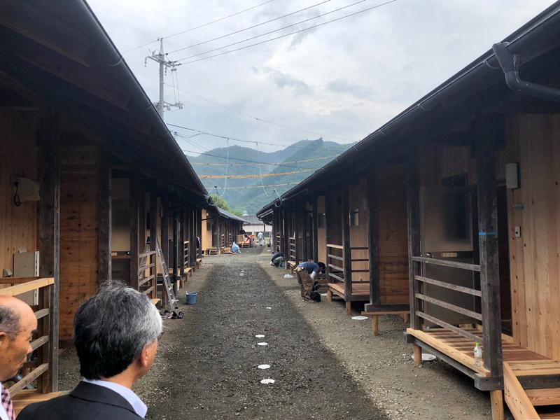 福島から岡山に移設された板倉つくりの応急仮設住宅