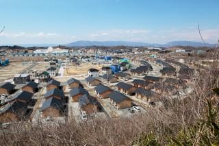 東日本大震災時に建てられた福島の応急仮設住宅