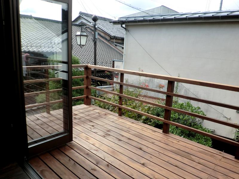 近江八幡 老舗骨董店『中島多吉商店』 バルコニー