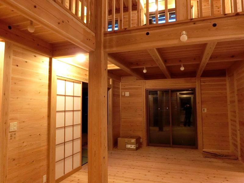 南野田 F邸『ゼロエネの家』 リビング
