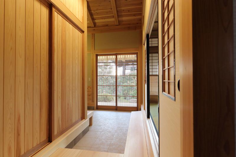 寝屋川木屋元町 板倉造りの庫裏 玄関