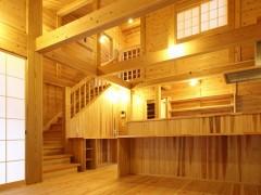 和歌山市内原 N邸『大屋根の家』 リビング