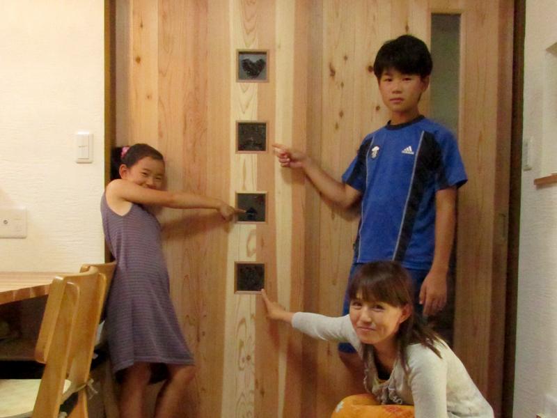 東大阪御厨 M様邸 after ガラスクラフトを建具に使用しています。
