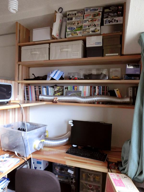 光明池 N様邸 ご主人の書斎スペース。