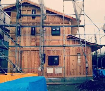 和歌山の板倉造りの家 外観