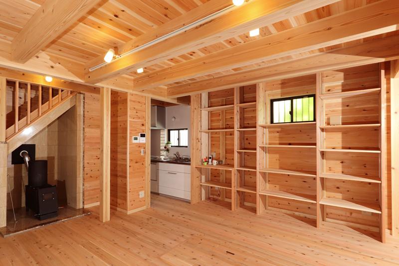 和歌山九度山 S様邸『自然を感じる無垢の家』 1F リビング