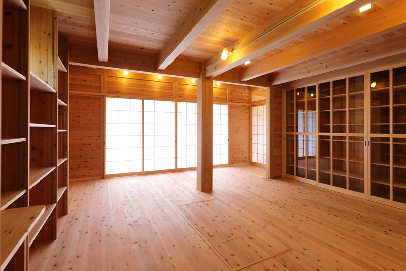 和歌山九度山 S様邸『自然を感じる無垢の家』 1Fリビング
