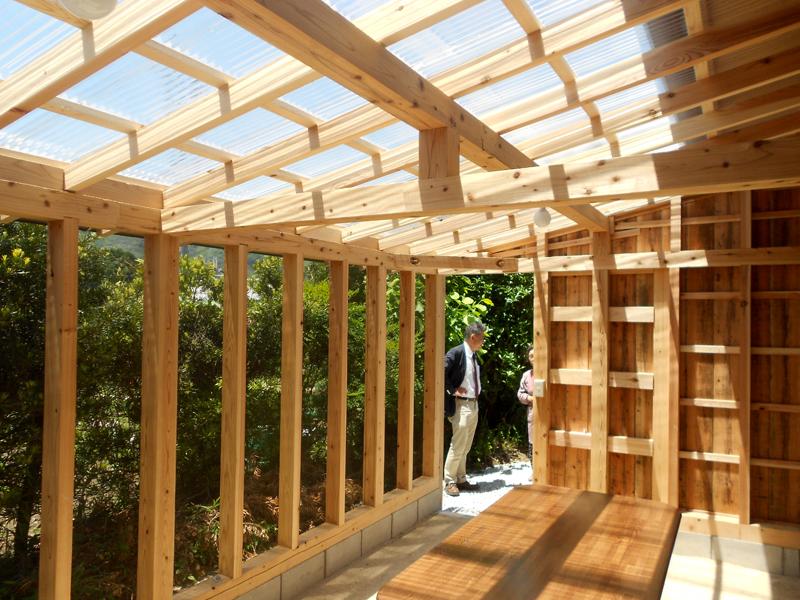 和歌山九度山 S様邸『自然を感じる無垢の家』 テラス内部