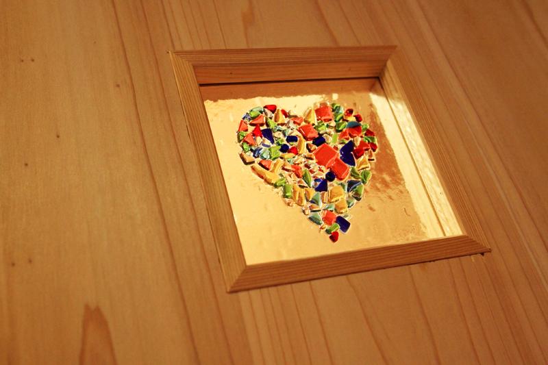 和歌山紀三井寺 N様邸『家族と集う無垢の家』 お施主様手作りのガラスクラフト