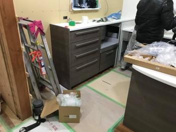 八尾弓削 自然素材リフォーム キッチン施工02
