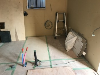 八尾弓削 自然素材リフォーム 内装壁下地02