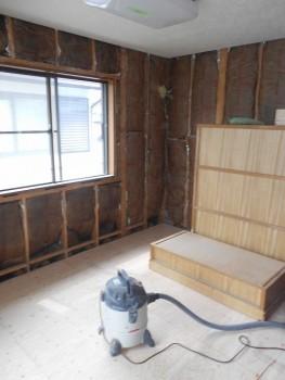 奈良広陵 無垢と漆喰の耐震リフォーム 2階床補強下地01