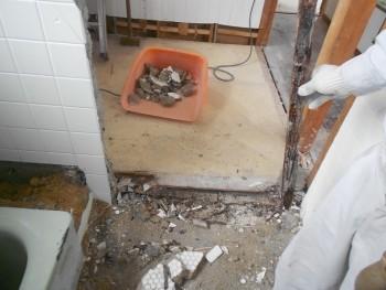 奈良広陵 無垢と漆喰の耐震リフォーム 浴室解体01