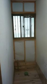 奈良広陵 無垢と漆喰の耐震リフォーム 1階トイレ床・断熱01