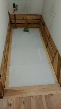 奈良広陵 無垢と漆喰の耐震リフォーム 1階トイレ床・断熱02