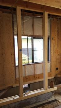 奈良広陵 無垢と漆喰の耐震リフォーム 新設補強部分02