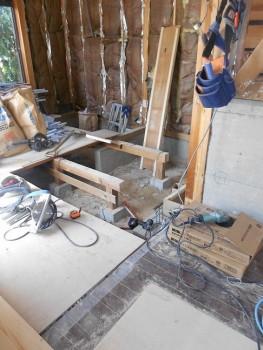 奈良広陵 無垢と漆喰の耐震リフォーム 浴室基礎増設01