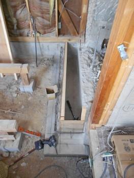 奈良広陵 無垢と漆喰の耐震リフォーム 浴室基礎増設02