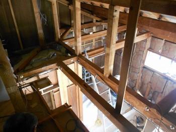 奈良広陵 無垢と漆喰の耐震リフォーム ロフト部分工事04