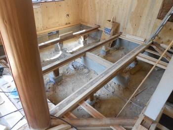 奈良広陵 無垢と漆喰の耐震リフォーム 和室部分床下02