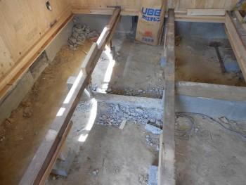 奈良広陵 無垢と漆喰の耐震リフォーム 和室部分床下03