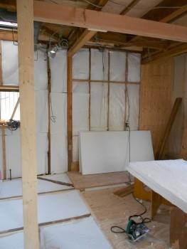 奈良広陵 無垢と漆喰の耐震リフォーム 構造補強梁02