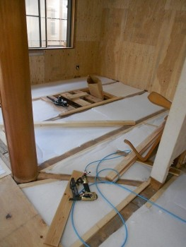 奈良広陵 無垢と漆喰の耐震リフォーム 床下断熱材02