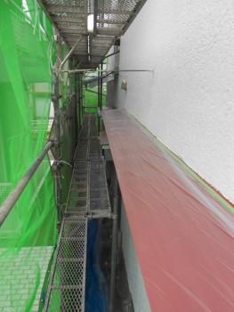 奈良広陵 無垢と漆喰の耐震リフォーム 庇塗装01