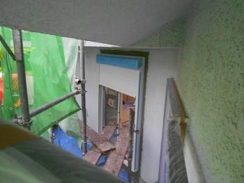 奈良広陵 無垢と漆喰の耐震リフォーム シャッター新設01
