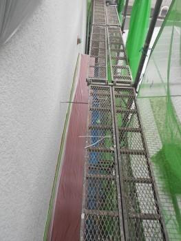 奈良広陵 無垢と漆喰の耐震リフォーム 庇塗装02