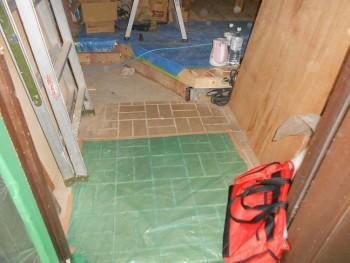 奈良広陵 無垢と漆喰の耐震リフォーム 玄関框造作