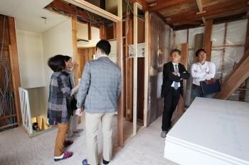 2018.4.28 奈良広陵 無垢と漆喰の耐震リフォーム 完成前見学会07