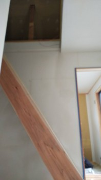 奈良広陵 無垢と漆喰の耐震リフォーム 漆喰下塗り03