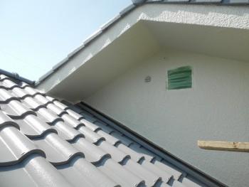 奈良広陵 無垢と漆喰の耐震リフォーム 屋根塗装開始02