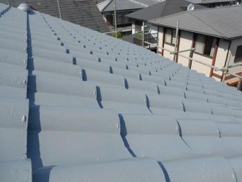 奈良広陵 無垢と漆喰の耐震リフォーム 屋根塗装開始04