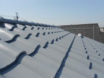 奈良広陵 無垢と漆喰の耐震リフォーム 屋根塗装開始05