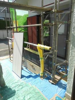 奈良広陵 無垢と漆喰の耐震リフォーム 雨戸塗装03