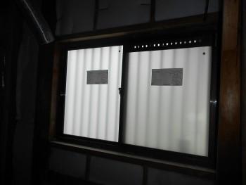 奈良広陵 無垢と漆喰の耐震リフォーム 窓ガラス取替02