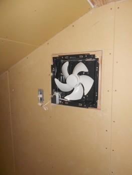 奈良広陵 無垢と漆喰の耐震リフォーム ロフト換気扇02