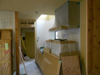 奈良広陵 無垢と漆喰の耐震リフォーム キッチン施工03
