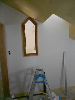 奈良広陵 無垢と漆喰の耐震リフォーム 和紙施工開始02