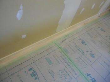 奈良広陵 無垢と漆喰の耐震リフォーム 木製巾木施工02