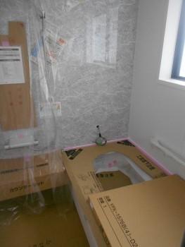 奈良広陵 無垢と漆喰の耐震リフォーム ユニットバス施工