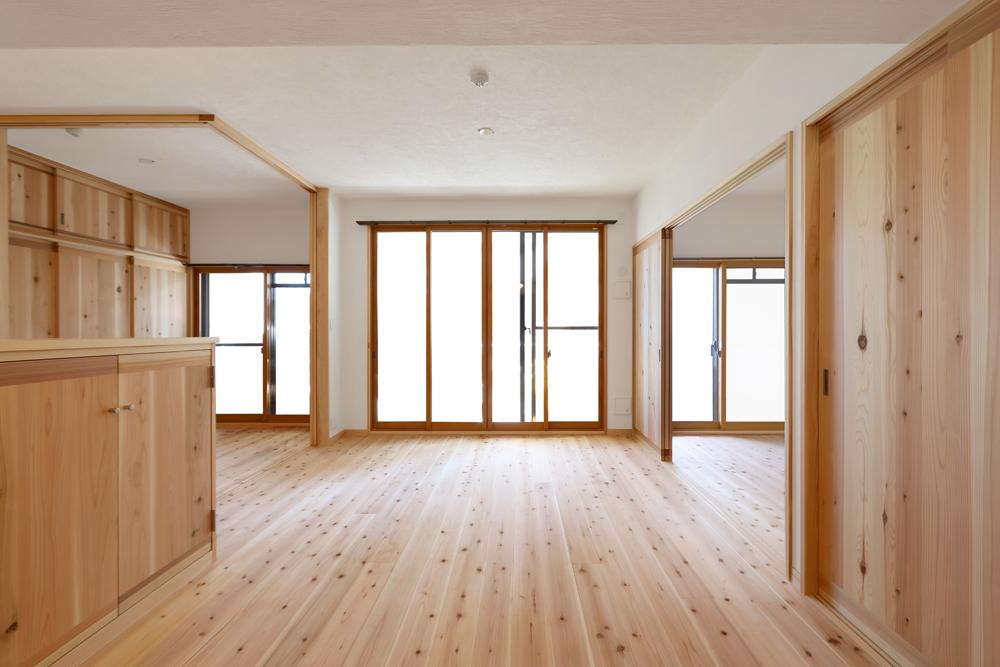大阪旭区 S邸 after 広々とした空間としても使えるようになったリビング。
