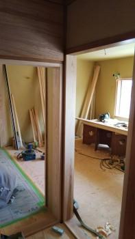 八尾弓削 自然素材リフォーム 2階床下地調整02