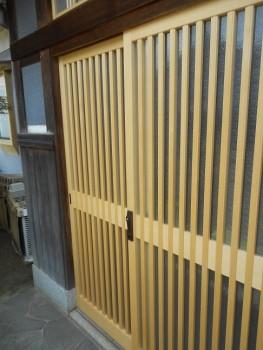 八尾弓削 自然素材リフォーム 玄関引違木製建具やり替え01
