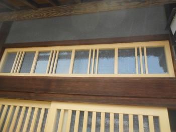八尾弓削 自然素材リフォーム 玄関引違木製建具やり替え02