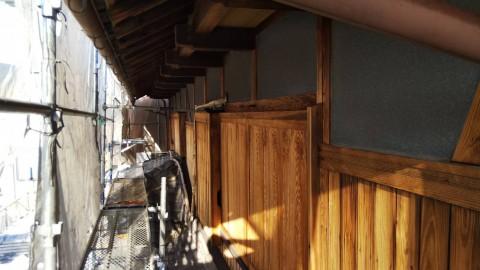 八尾弓削 自然素材リフォーム 外壁洗い01